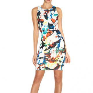 Milly Expressionist Racerback Sheath Dress