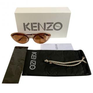 Kenzo Cat-Eye Peach Sunglasses