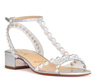 Christian Louboutin Faridaravie 25 PVC & Iridescent Leather Sandals