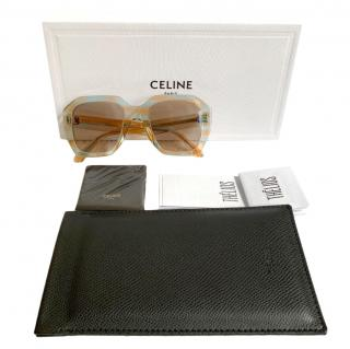 Celine Blue/Peach Geometric Sunglasses