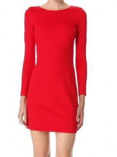 Theory Kalion Pryor Ponte Red Dress