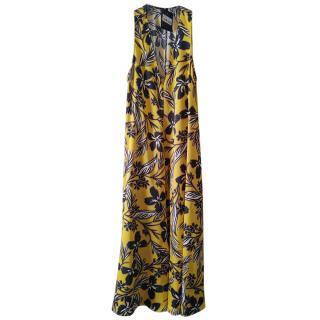 Alysi Chocolat Sunshine Yellow Printed Midi Dress