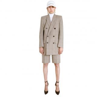 Balenciaga Resort Collection brown checked long shorts
