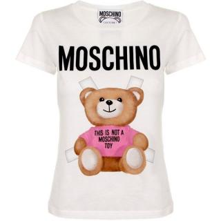 Moschino Teddy Toy Print Cream T-Shirt
