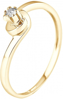 & You yellow gold & diamond solitaire ring