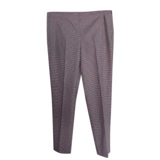 Max Mara Houndstooth Tapered Pants