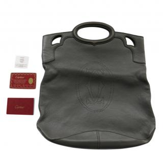 Cartier Grey Leather Top Handle