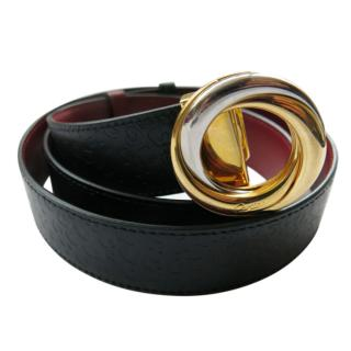 Cartier Reversible Leather Trinity Buckle Belt