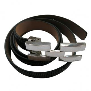 Cartier Black Leather Women's Belt