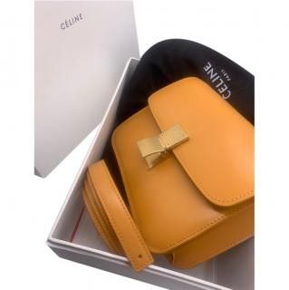 Celine Mustard Yellow Classic Leather Box Bag