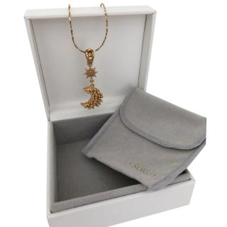 Soru Jewellery Mini Luna Pendant Necklace
