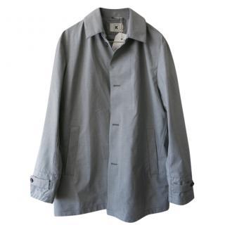 Kiton Grey Men's Lightweight Overcoat