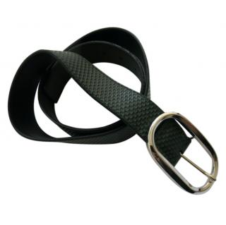 A Testoni Black Textured Leather Belt