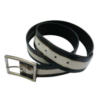 A Testoni Printed Leather Belt