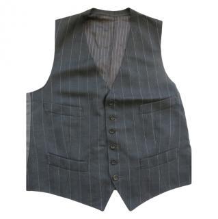 Tom Ford Grey Pin Stripe Waistcoat