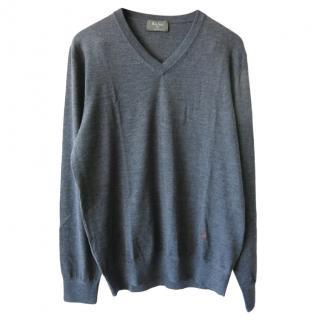 Berluti Men's Grey Wool Jumper