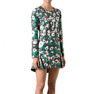 Marni Green & Pink Printed Mini Dress