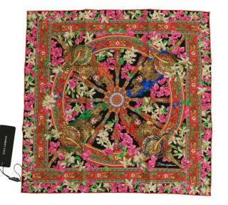 Dolce & Gabbana Multicoloured Printed Silk Scarf