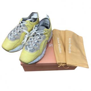 Acne Studios Lemon Yellow Oversize Sneakers