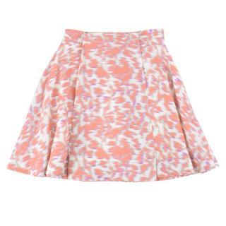 Balenciaga Pink Blurred Print Mini Skirt