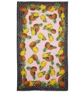 Dolce & Gabbana Polka Dot Pineapple Print Wrap Scarf/Sarong