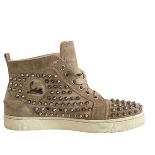 Christian Louboutin nude Louis Spike high top sneakers