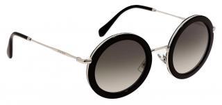 Miu Miu Black Round 59U Sunglasses