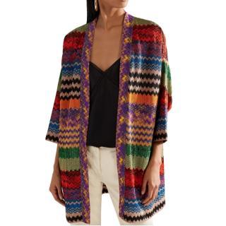 Missoni Metallic Knit Crochet Cardigan