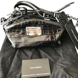 Dolce & Gabbana Croco Print Tote Bag