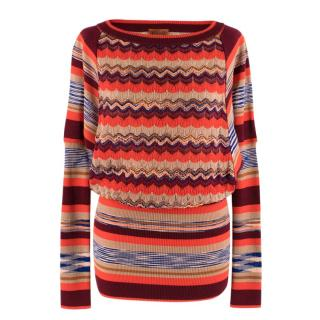 Missoni Orange Multi-Knit Longline Jumper