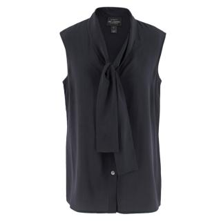 St. John Boutiques Black Silk Sleeveless Shirt