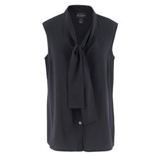 St. John Boutiques Black Silk Sleeveless Shirt