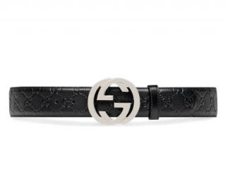 Gucci signature leather belt - Size 115