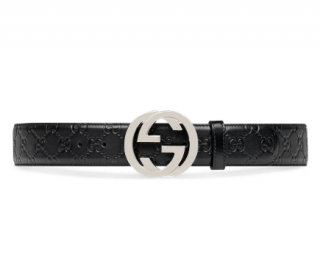 Gucci signature leather belt - Size 115