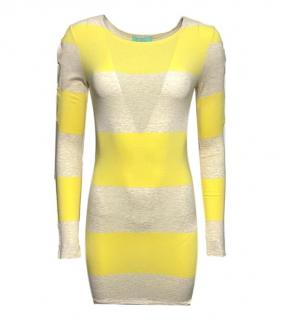 Melissa Odabash Yellow Striped Beach Dress