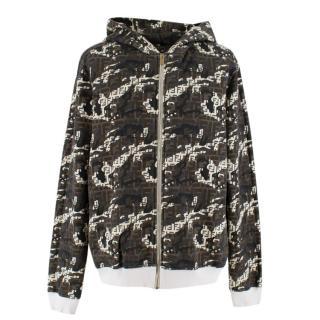 Fendi Zip Up Camo Print Hooded Jacket