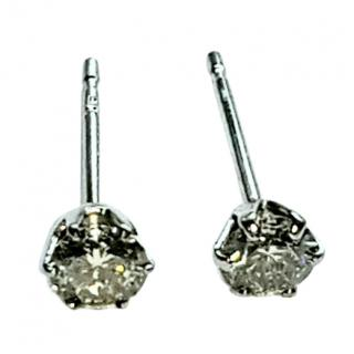 Bespoke Platinum Set Diamond Solitaire Earrings