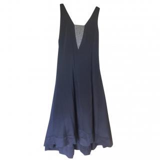 Brunello Cucinelli Silk Sleeveless Swing Dress
