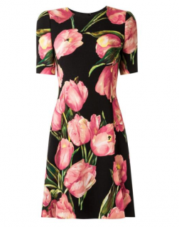 Dolce & Gabbana Tulip Print Fitted Dress