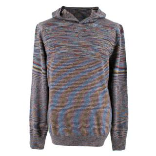 Missoni Multicoloured Wool Knit Hoodie