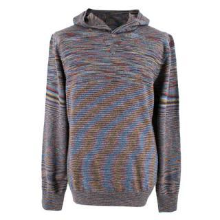 Missoni Multicoloured Wool Knit Hoodie