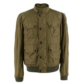 Belstaff Green Nylon Men's Bomber Jacket