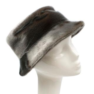 Prada Silvery Brown Fur Bucket Hat