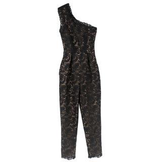 Stella McCartney Black Lace One-Shoulder Jumpsuit