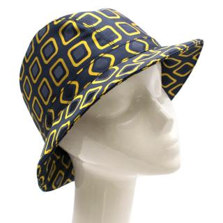 Prada Nylon Geometric Print Bucket Hat