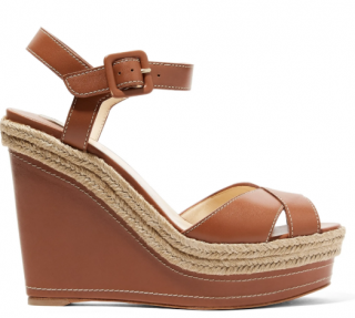 Christian Louboutin Almeria 120 leather espadrille wedge sandals
