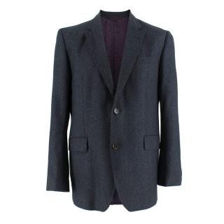 Duchamp Navy Wool Single Breasted Blazer