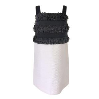 Paule Ka Black & White Embellished Mini Dress