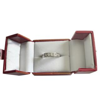 Bespoke 1ct Diamond Channel Set Eternity Ring in White Gold