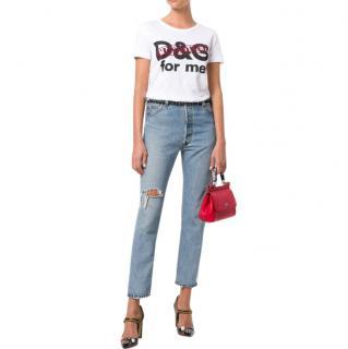 Dolce & Gabbana Censored Print T-Shirt